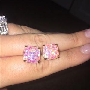Kate spade pink confetti earrings